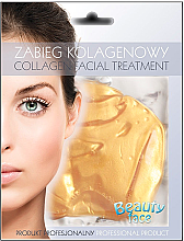 Parfüm, Parfüméria, kozmetikum Kollagén maszk 24 karátos arannyal - Beauty Face Collagen 24k Gold Anti-Wrinkle Home Spa Treatment Mask 40+