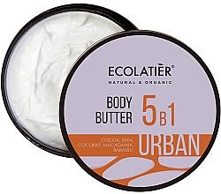 "Parfüm, Parfüméria, kozmetikum Vaj-krém 5 az 1-ben ""Kakaó, shea, makadámia,bajbaszu"" - Ecolatier Urban Body Butter"