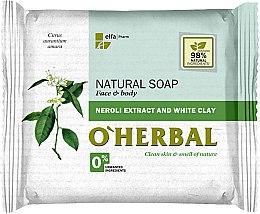 Parfüm, Parfüméria, kozmetikum Természetes szappan neroli kivonattal és fehér agyaggal - O'Herbal Natural Soap