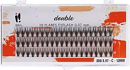 Parfüm, Parfüméria, kozmetikum Műszempilla szálas, C 12 mm - Ibra 20 Flares Eyelash Knot Free Naturals