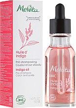 Parfüm, Parfüméria, kozmetikum Indigó olaj hajra - Melvita Organic Pre-Shampoo Indigo Oil