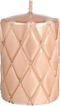 Parfüm, Parfüméria, kozmetikum Díszgyertya, 10cm, rózsaszín-arany - Artman Florence Candle