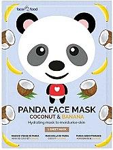 """Parfüm, Parfüméria, kozmetikum Anyagmaszk arcra """"Panda"""" banán és kókusz kivonattal - 7th Heaven Face Food Panda Face Mask Coconut & Banana"""
