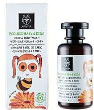 Parfüm, Parfüméria, kozmetikum Lágy tisztító szer körömvirággal és mézzel - Apivita Babies & Kids Eco Bio Baby Kids Hair & Body Wash With Calendula & Honey
