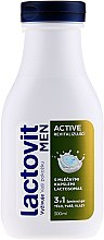 Parfüm, Parfüméria, kozmetikum Férfi tusfürdő 3az1 - Lactovit Men Active 3v1 Shower Gel