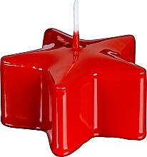 "Parfüm, Parfüméria, kozmetikum Díszgyertya ""Csillag"", piros, 40/78 mm - Bolsius Pillar Star Candle"
