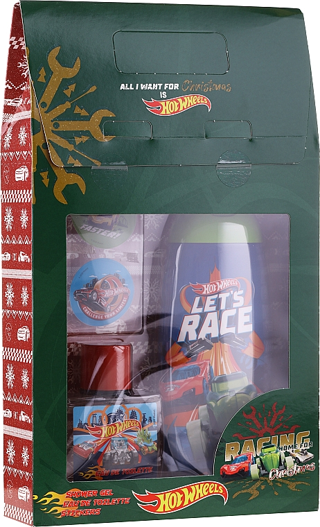 Szett - Uroda For Kids Hot Wheels (sh/gel/250ml + edt/50ml + stickers)