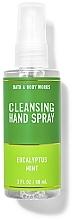 Parfüm, Parfüméria, kozmetikum Tisztító spray kézre - Bath And Body Works Cleansing Hand Spray Eucalyptus Spearmint