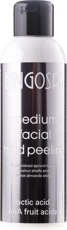 Közepes arcpeeling tejjel- és AHA gyümölcssavakkal - BingoSpa Medium Facial Mud Peeling