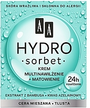 Parfüm, Parfüméria, kozmetikum Mattító hidratáló arckrém - AA Hydro Sorbet Moisturising & Mattifying Cream