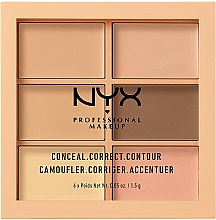 Parfüm, Parfüméria, kozmetikum Kontúrozó paletta - NYX Professional Makeup Palette Conceal Correct Contour