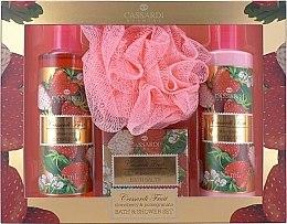 Parfüm, Parfüméria, kozmetikum Szett - Cassardi Fruit Strawberry And Pomegranate (b/lot 250ml + sh/gel/250ml + salf 100g + fürdő pamacs)