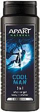 Parfüm, Parfüméria, kozmetikum Tusfürdő - Apart Natural Cool Man 3-in-1 Shower Gel
