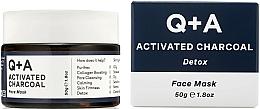 """Parfüm, Parfüméria, kozmetikum Arcmaszk """"Detox"""" - Q+A Activated Charcoal Face Mask"""