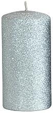 Parfüm, Parfüméria, kozmetikum Dekoratív gyertya, ezüst, 7x18 cm - Artman Glamour