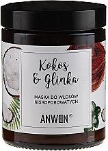 Parfüm, Parfüméria, kozmetikum Maszk porózus hajra - Anwen Low-Porous Hair Mask Coconut and Clay