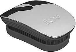 Parfüm, Parfüméria, kozmetikum Hajkefe fésű - Ikoo Pocket Oyster Metallic Black