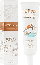 Parfüm, Parfüméria, kozmetikum Csiga szemkörnyékápoló krém - Esfolio Nutri Snail Daily Eye Cream