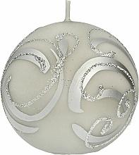 Parfüm, Parfüméria, kozmetikum Dekoratív gyertya, gömb, szürke, 10 cm - Artman Christmas Ornament