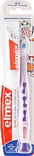 Parfüm, Parfüméria, kozmetikum Gyerek fogkefe lágy (0-3 éves korig), orgonaszínű zsiráffal - Elmex Learn Toothbrush Soft + Toothpaste 12ml