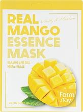 Parfüm, Parfüméria, kozmetikum Anyagmaszk arcra mangó kivonattal - FarmStay Real Mango Essence Mask