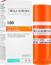 Parfüm, Parfüméria, kozmetikum Napvédő fluid zsíros bőrre - Bella Aurora Sunscreen Gel Oily Skin SPF50+