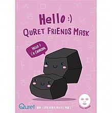 Parfüm, Parfüméria, kozmetikum Faszén alapú arcmaszk - Quret Hello Friends Mask Charcoal