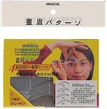 Parfüm, Parfüméria, kozmetikum Szemöldökformázó sablon, méret C5, C6, C7, C8 - Magical Eyebrow Style