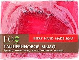 Parfüm, Parfüméria, kozmetikum Glicerin szappan acai bogyó és vörösáfonya magolaj kivonattal - ECO Laboratorie Berry Hand Made Soap
