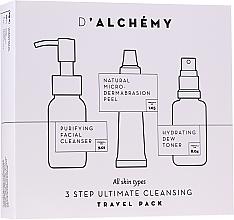 Parfüm, Parfüméria, kozmetikum Szett - D'Alchemy 3 Step Ultimate Cleansing Travel Pack (toner/30ml + f/cleanser/50ml + f/peel/15ml)