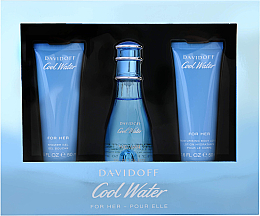 Parfüm, Parfüméria, kozmetikum Davidoff Cool Water Woman - Szett (edt/50ml + b/lot/50ml + sh/gel/50ml)