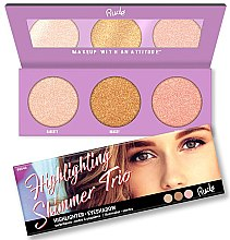Parfüm, Parfüméria, kozmetikum Highlighter paletta - Rude Cosmetics Highlighting Shimmer Trio