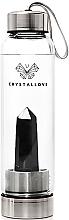 Parfüm, Parfüméria, kozmetikum Kulacs fekete obszidiánt kistállyal, 500 ml - Crystallove