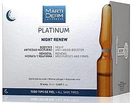Parfüm, Parfüméria, kozmetikum Fényöregedés elleni ejszakai arcampulla - MartiDerm Platinum Night Renew Ampollas