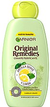 """Parfüm, Parfüméria, kozmetikum Sampon zsíros hajra """"Agyag és citrom"""" - Garnier Original Remedies Clay and Lemon Shampoo"""