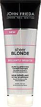 Parfüm, Parfüméria, kozmetikum Hajkondicionáló ragyogó hatással világos hajra - John Frieda Sheer Blonde Brilliantly Brighter Conditioner