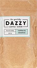 """Parfüm, Parfüméria, kozmetikum Kávés test- és arcradír """"Kávé és kókusz"""" - Dazzy Coffee Face & Body Scrub Coffee & Cocos"""
