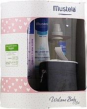 Parfüm, Parfüméria, kozmetikum Szett - Mustela Welcome Baby Set Pink (b/gel/200ml + b/cr/50ml + b/oil/100ml + case)