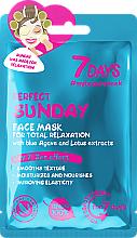 """Parfüm, Parfüméria, kozmetikum Relaxációs arcmaszk """"Tökéletes vasárnap"""" - 7 Days Perfect Sunday"""