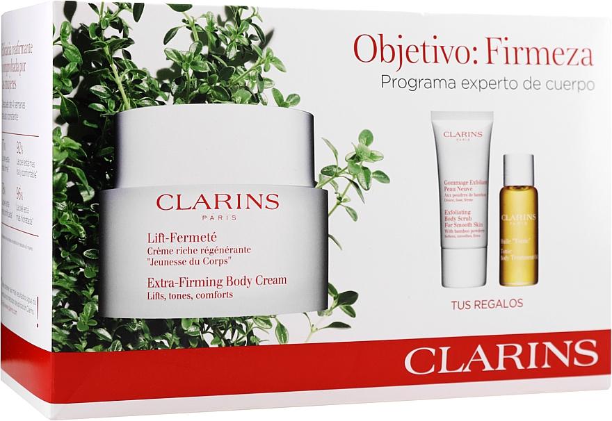 Készlet - Clarins Extra-Firming (b/cr/200ml + b/scr/30ml + b/oil/10ml)