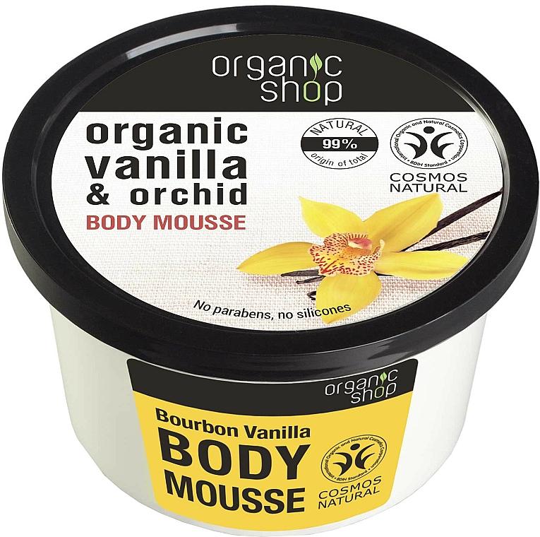 "Testhab ""Bourbon vanília"" - Organic Shop Body Mousse Organic Vanilla & Orchid — fotó N1"