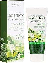 Parfüm, Parfüméria, kozmetikum Arclemosó hab zöld tea kivonattal - Deoproce Natural Perfect Solution Cleansing Foam Green Tea