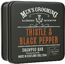 "Parfüm, Parfüméria, kozmetikum Sampon ""Bogáncs és fekete bors"" - Scottish Fine Soaps Mens Grooming Thistle & Black Pepper Shampoo Bar"