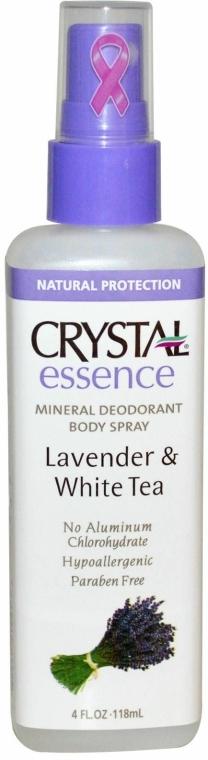 Levendula és fehér tea illatú izzadásgátló spray - Crystal Essence Deodorant Body Spray