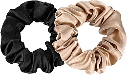 """Parfüm, Parfüméria, kozmetikum Hajgumi készlet természetes selyemből """"Midi"""" - Makeup Scrunchie Set Black Gold"""