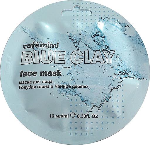 """Arcmaszk """"Kék agyag és teafa"""" - Cafe Mimi Blue Clay Face Mask"""