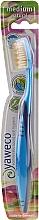 Parfüm, Parfüméria, kozmetikum Félkemény fogkefe, sötétkék-világoskék - Yaweco Toothbrush Natural Medium