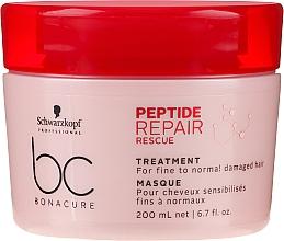 Parfüm, Parfüméria, kozmetikum Helyreállító pakolás sérült vékonyszálú és normál hajra - Schwarzkopf Professional BC Bonacure Peptide Repair Rescue Treatment Mask