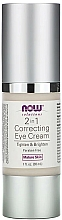 Parfüm, Parfüméria, kozmetikum Szemkrém - Now Foods Solutions 2 in 1 Correcting Eye Cream