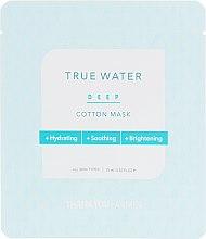 Parfüm, Parfüméria, kozmetikum Szövet arcmaszk mályen hidratáló hatással - Thank You Farmer True Water Deep Cotton Mask